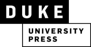Тестовый доступ к электронным информационным ресурсам издательства Duke University Press